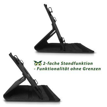 Hülle Medion Lifetab E10414 Tasche Schutzhülle Cover Case 360° Drehbar Schwarz – Bild 5