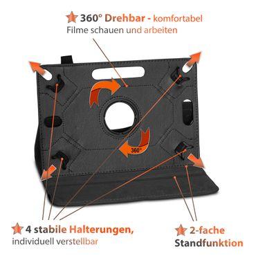 Tasche Medion Lifetab E10414 Hülle Schwarz Schutzhülle Tablet Case 360° Drehbar  – Bild 10