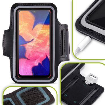 Sport Tasche Samsung Galaxy A10 Schutzhülle Jogging Hülle Fitness Case Schwarz  – Bild 1