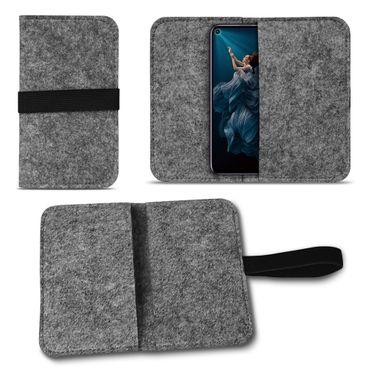 Filz Tasche für Huawei Honor 20 Pro Handy Hülle Schutz Cover Case Schutzhülle – Bild 8