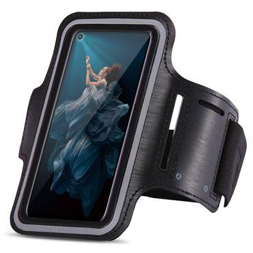 Handy Hülle Huawei Honor 20 Pro Jogging Tasche Fitness Schwarz Schutzhülle Case – Bild 3