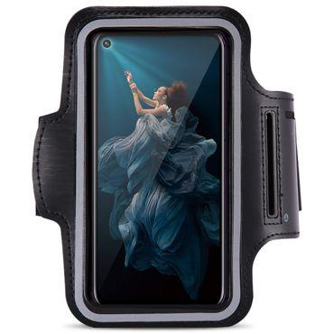 Handy Hülle Huawei Honor 20 Pro Jogging Tasche Fitness Schwarz Schutzhülle Case – Bild 2