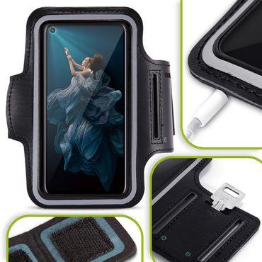 Handy Hülle Huawei Honor 20 Pro Jogging Tasche Fitness Schwarz Schutzhülle Case – Bild 1