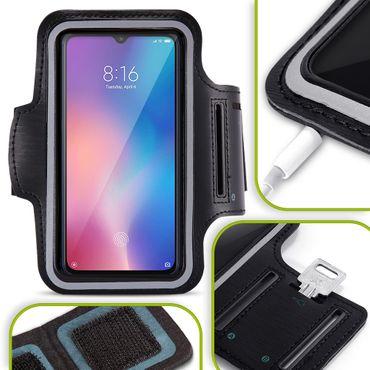 Handy Hülle Xiaomi Mi 9 Jogging Tasche Fitness Schwarz Schutzhülle Schutz Case – Bild 1