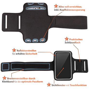 Schutzhülle Huawei P smart Z Handy Hülle Schwarz Tasche Sport Jogging Armcase – Bild 5