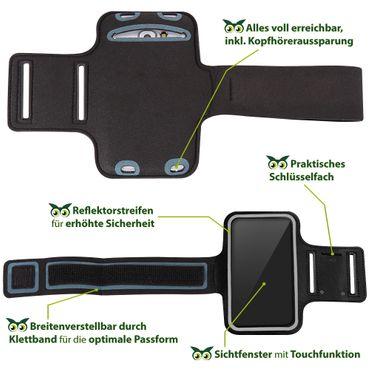 Handy Hülle Xiaomi Mi 9T Tasche Schwarz Jogging Fitness Case Sportarmband Cover – Bild 5