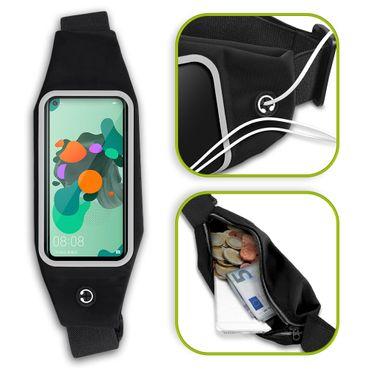 Handy Tasche Huawei Mate 30 Lite Hülle Schwarz Schutzhülle Jogging Fitness Case