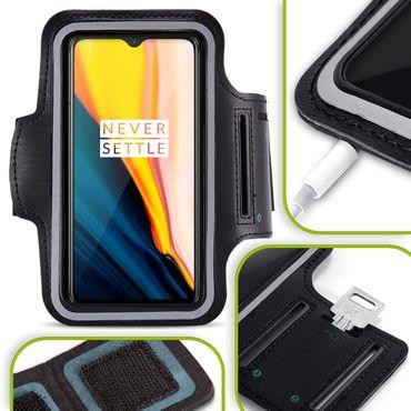 Handy Hülle für OnePlus 7 Tasche Schwarz Jogging Fitness Case Schutzhülle Cover
