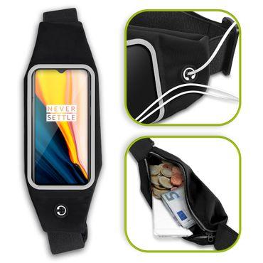 Handy Tasche für OnePlus 7 Hülle Schwarz Schutzhülle Jogging Case Fitness Cover – Bild 1