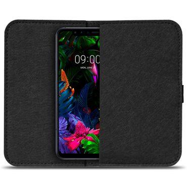 Filz Tasche LG G8S ThinQ Handy Hülle Schutz Cover Case Schutzhülle Handyhülle – Bild 3