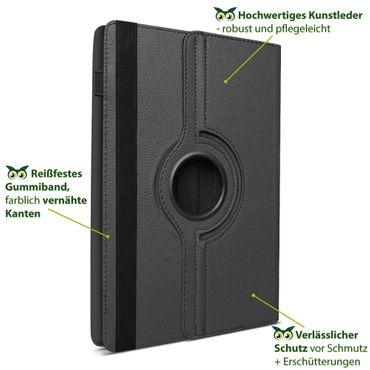Tablet Hülle Samsung Galaxy Tab S6 Schutzhülle Cover Case 360° Drehbar Schwarz – Bild 8
