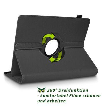Tablet Hülle Samsung Galaxy Tab S6 Schutzhülle Cover Case 360° Drehbar Schwarz – Bild 4