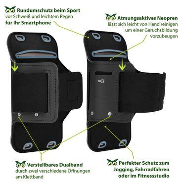 Handy Hülle Apple iPhone 11 Tasche Schwarz Jogging Schutzhülle Case Sportarmband – Bild 4