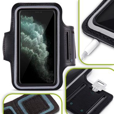 Handy Hülle Apple iPhone 11 Pro Max Tasche Schwarz Jogging Schutzhülle Armband – Bild 1