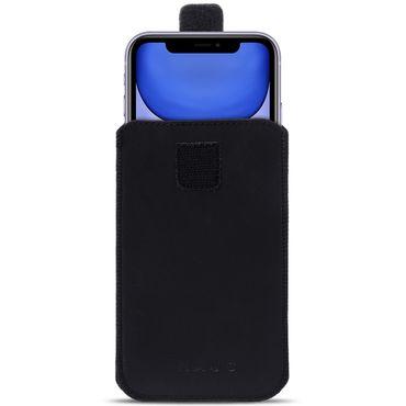 Handy Hülle Apple iPhone 11 Leder Tasche Schwarz Schutzhülle Case Pull Tab Cover – Bild 2
