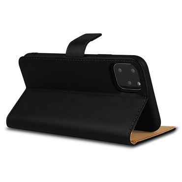 Leder Hülle Apple iPhone 11 Pro Schutzhülle Schwarz Flip Case Tasche Handy Cover – Bild 8