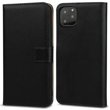 Handy Hülle Apple iPhone 11 Pro Leder Tasche Schwarz Schutzhülle Cover Flip Case – Bild 8