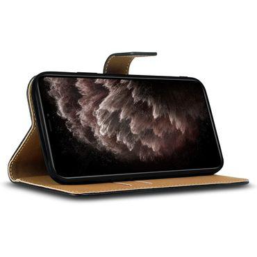 Apple iPhone 11 Pro Max Handy Schutzhülle Leder Hülle Tasche Schwarz Cover Case – Bild 2