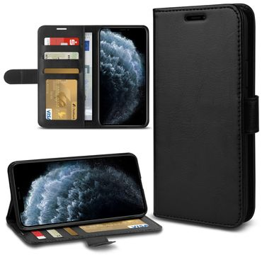 Handy Hülle Apple iPhone 11 Pro Tasche Schwarz Flip Case Schutzcover Schutzhülle – Bild 1