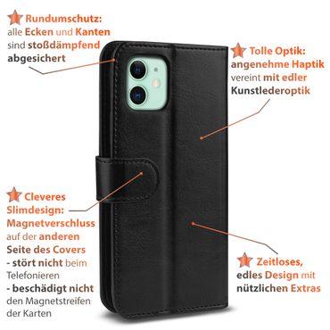 Handy Hülle für Apple iPhone 11 Schutzhülle Tasche Schutz Case Cover Schwarz  – Bild 6