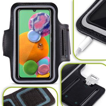 Handy Hülle Samsung Galaxy A90 5G Fitness Case Jogging Tasche Schutz Sport Cover – Bild 1