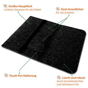 Filz Hülle Lenovo Yoga Chromebook C630 Schutz Tasche Schutzhülle Notebook Cover – Bild 15
