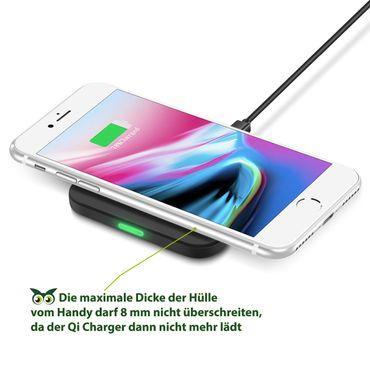 QI Wireless Charger Schnell Ladegerät Samsung Galaxy S10e Kabellos Ladestation – Bild 3