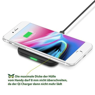 QI Wireless Charger Samsung Galaxy Note 10 9 8 S10+ S10e S10 S9+ S9 S8 Ladegerät – Bild 3