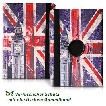 Schutzhülle Hülle für Medion Lifetab E10702 Tasche Cover Case 360° Drehbar Motiv – Bild 4