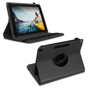 Tasche Medion Lifetab E10702 Hülle Schwarz Schutzhülle Tablet Case 360° Drehbar – Bild 2