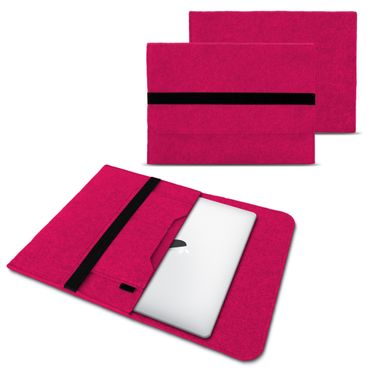 Sleeve Hülle Für Apple Macbook Air Tasche Laptop Cover  Filz 13,3 Zoll Pink Case – Bild 1