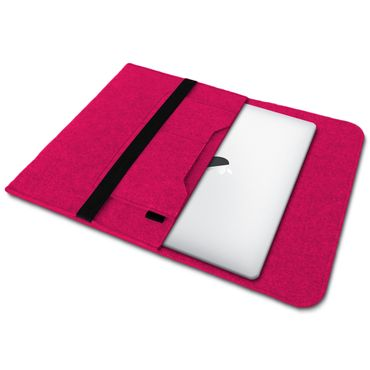 Sleeve Hülle Für Apple Macbook Air Tasche Laptop Cover  Filz 13,3 Zoll Pink Case – Bild 2
