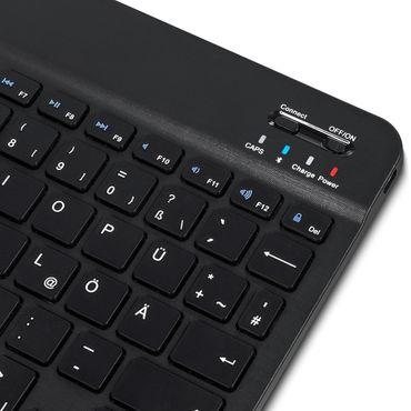 Tablet Hülle 10 10.1 Zoll Tasche Bluetooth Tastatur Schutzhülle QWERTZ Keyboard – Bild 11