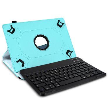 Tablet Hülle 10 10.1 Zoll Tasche Bluetooth Tastatur Schutzhülle QWERTZ Keyboard – Bild 1