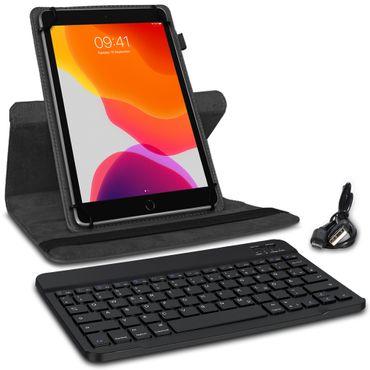 Schutzhülle Apple iPad 2019 10.2 Bluetooth Hülle Tastatur Tablet Tasche QWERTZ – Bild 3