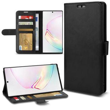 Schutzhülle Samsung Galaxy S10 A40 A50 Note 10 Plus S9 Hülle Tasche Schwarz Case – Bild 2