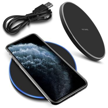 Schnell Ladegerät Apple iPhone 11 Pro Max QI Wireless Charger Induktives Laden – Bild 1