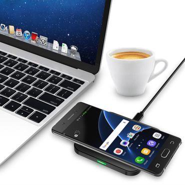 QI Wireless Schnell Ladegerät für Samsung Galaxy S20 Plus Kabellos Ladestation – Bild 13