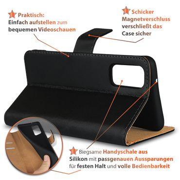 Schutzhülle Samsung Galaxy S20 Plus Hülle Leder Tasche Schwarz Cover Flip Case – Bild 5