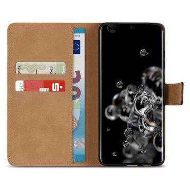 Schutzhülle Samsung Galaxy S20 Ultra Hülle Leder Tasche Schwarz Cover Flip Case – Bild 3