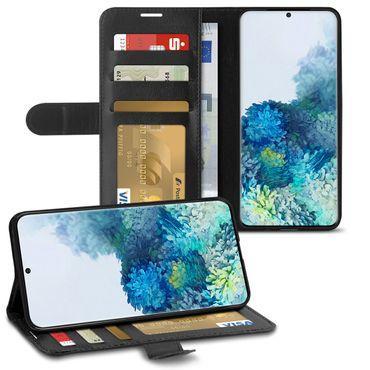 Schutzhülle Samsung Galaxy S20 Plus Hülle Handy Tasche Schwarz Flip Schutz Case – Bild 1