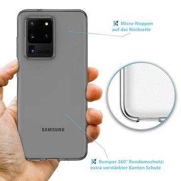 Schutzhülle Samsung Galaxy S20 Ultra Handy Hülle Tasche Ultra Slim Silikon Case – Bild 5