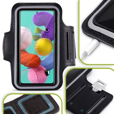 Handy Hülle Samsung Galaxy A21s Fitness Case Jogging Tasche Schutz Sport Cover – Bild 1