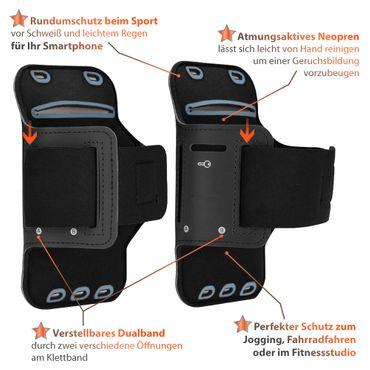 Schutzhülle für Samsung Galaxy A21s Handy Hülle Fitness Tasche Schwarz Sport Case – Bild 4