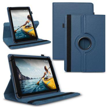 Tablet Hülle Medion Lifetab P Serie 10 10.1 Zoll Tasche Schutzhülle Blau Drehbar – Bild 1