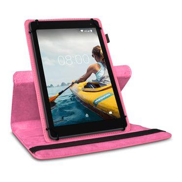 Tablet Hülle Medion Lifetab P Serie 10 10.1 Zoll Tasche Schutzhülle Pink Drehbar – Bild 4