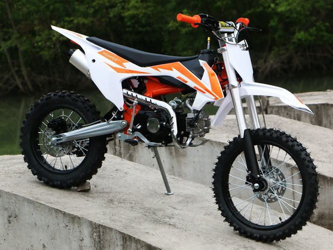 Dirt Bike Cross Bike 125ccm + 14/12 Reifen + Upside Down Gabel - HIGHPER DB608