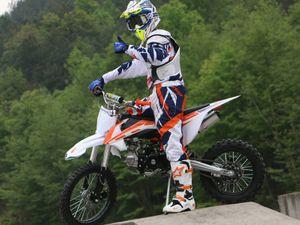 Dirt Bike Cross Bike 125ccm + 14/12 Reifen + Upside Down Gabel - HIGHPER DB608 001