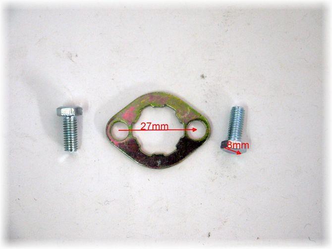 Ritzelsicherung - Sicherung 27mm für Kettenrad vorne + 2 Schrauben passend für Skyteam, div. Kinderquad und Dirtbikes