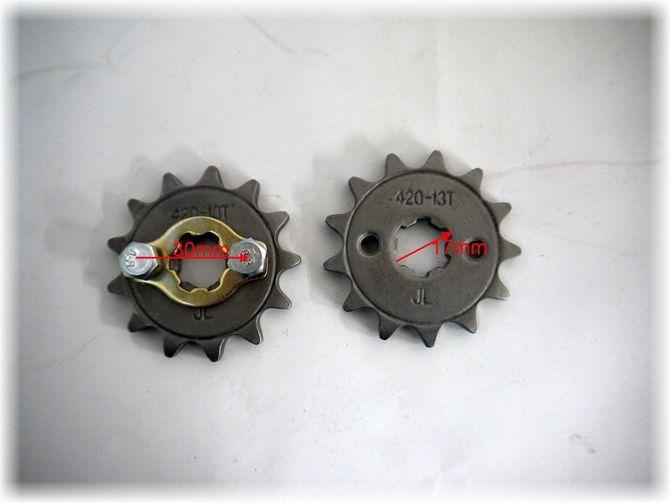 Ritzel 13 Zähne für 420er Kette  - passend für viel Skyteam Bikes, Kinderquads und Dirtbikes mit 50 und 125cc 4 Takt- Motoren